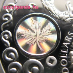 Jólét - Maple of Prosperity 2015 1 uncia proof hologramos ezüst pénzérme