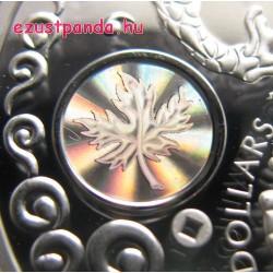 Jólét - Maple of Prosperity 2015 1 uncia proof hologramos ezüst pénzérme