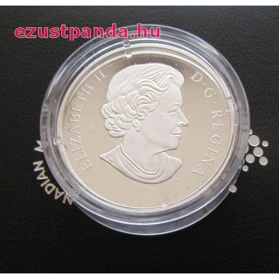 Nagyítás: Reggeli harmat - 2017 1 uncia kanadai proof ezüst pénzérme
