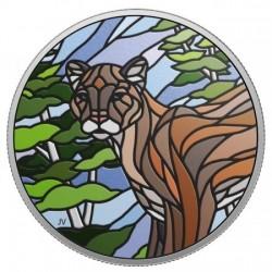 Mozaik Puma 2018 1 uncia kanadai proof ezüst pénzérme