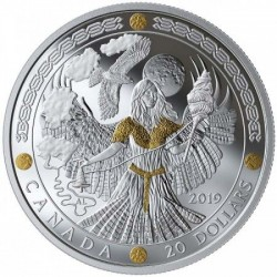 Skandináv istenek: FRIGG 2019 1 uncia kanadai proof ezüst pénzérme