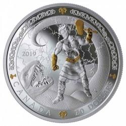 Skandináv istenek: THOR 2019 1 uncia kanadai proof ezüst pénzérme
