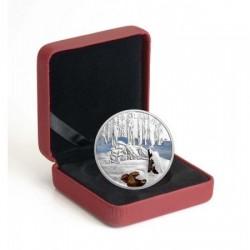 A szikrázó Eszak - Sarki farkas 2017 1 uncia proof ezüst pénzérme gyémántporral