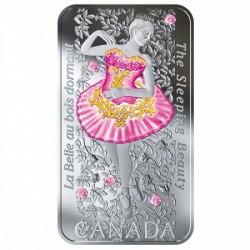 Csipkerózsika 2019 1 uncia kanadai ezüst pénzérme