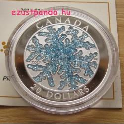Hópehely 2017 1 uncia proof ezüst pénzérme rekeszzománccal (cloisonné)