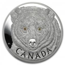 Spirit Bear - Szellemmmedve 2016 1kg proof ezüst pénzérme