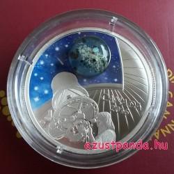 Univerzum II 2016 1 uncia kanadai proof ezüst pénzérme boroszilikát üveggel, opállal