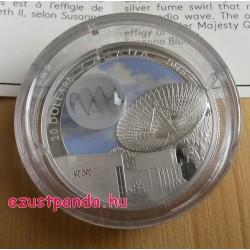 Univerzum III 2016 1 uncia kanadai proof ezüst pénzérme boroszilikát üveggel, ezüstfüst rádióhullámmal