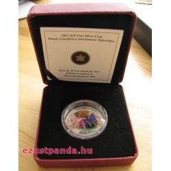 Murano-i üveg pillangó 1 uncia kanadai proof ezüst pénzérme