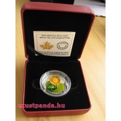 Murano-i üveg béka 2014 1 uncia kanadai proof ezüst pénzérme