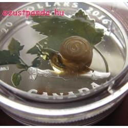 Murano-i üveg csiga 1 uncia 2016 kanadai proof ezüst pénzérme