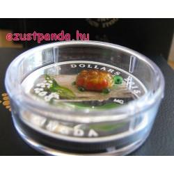 Murano-i üveg teknős 1 uncia kanadai proof ezüst pénzérme