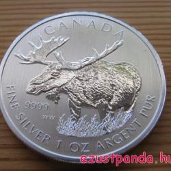 Jávorszarvas / Moose 2012 1 uncia ezüst pénzérme