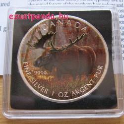Jávorszarvas / Moose 2012 1 uncia színes ezüst pénzérme