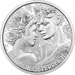 A virágok nyelvén - A rózsa 10 EUR 2021 proof ezüst pénzérme