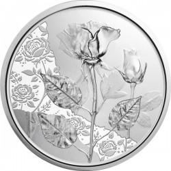 A virágok nyelvén - A rózsa 10 EUR 2021 ezüst pénzérme (normál veret)