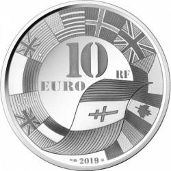 D-Day partraszállás 75 éve 2019 francia proof ezüst pénzérme
