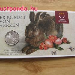 Dürer Mezei nyúl 5 EUR 2016 ezüst pénzérme