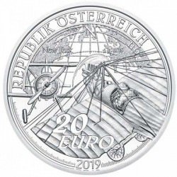 Az ég felé - A motoros repülés hajnala 20 EUR 2019 proof ezüst pénzérme
