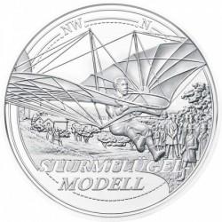 Az ég felé - A repülés álma 20 EUR 2019 proof ezüst pénzérme