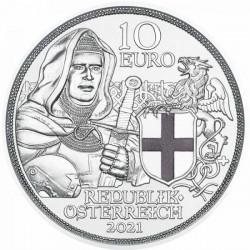 Sodronying és kard - Testvériség 10 EUR 2021 proof ezüst pénzérme
