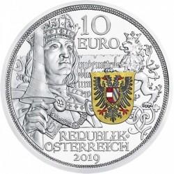 Sodronying és kard - Lovagiasság 10 EUR 2017 proof ezüst pénzérme