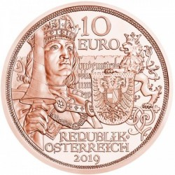Sodronying és kard - Lovagiasság 10 EUR 2019 réz pénzérme