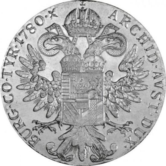 Mária Terézia tallér 1780 ezüst pénzérme hivatalos utánverete