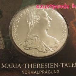 Mária Terézia tallér 1780 ezüst pénzérme hivatalos utánverete dísztokban