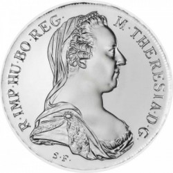 Mária Terézia tallér 1780 PROOF ezüst pénzérme, hivatalos utánveret