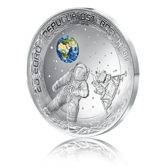 Holdraszállás 20 EUR 2019 osztrák proof ezüst pénzérme