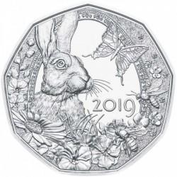 Húsvéti nyúl 5 EUR 2019 ezüst pénzérme