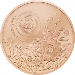 Egy uncia szerencse Palau 2022 proof ezüst pénzérme, vörös arannyal