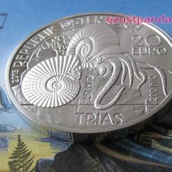 Triász - Élet a vízben 20 EUR 2013 proof ezüst pénzérme