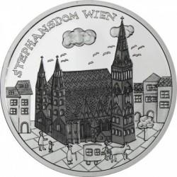 Bécs -Wien 10 EUR 2015 proof ezüst pénzérme