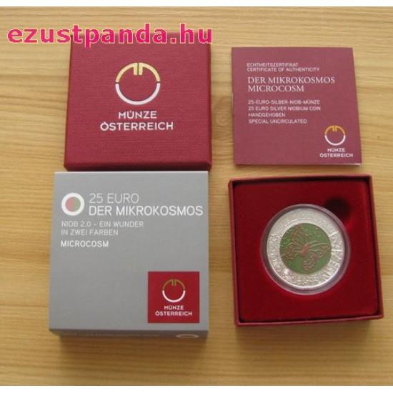 Mikrokozmosz (Mikrokosmos) 25 EUR 2017 ezüst-nióbium pénzérme