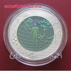 Antropocén (Anthropozän) 25 EUR 2018 ezüst-nióbium pénzérme