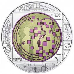 Big Data - az átlátszó ember 25 EUR 2020 ezüst-nióbium pénzérme