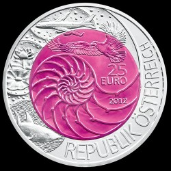 Bionika (Bionik) 25 EUR 2012 ezüst-nióbium pénzérme