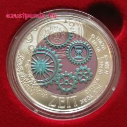 Az Idő (Die Zeit) 25 EUR 2016 ezüst-nióbium pénzérme