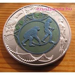 Evolúció (Evolution) 25 EUR 2014 ezüst-nióbium pénzérme