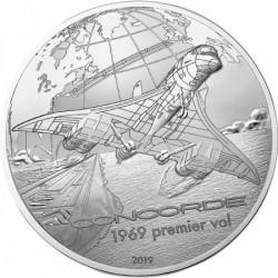 Concorde 50 éves 2019 francia proof ezüst pénzérme