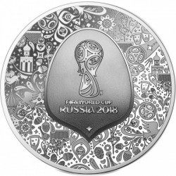FIFA Futball VB 2018 proof ezüst pénzérme