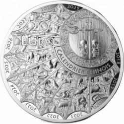 Bivaly éve 2021 francia 1 uncia proof high-relief ezüst pénzérme