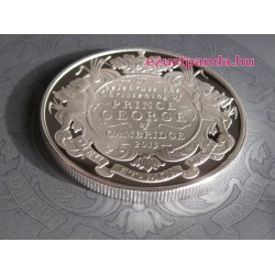 Királyi keresztelő 2014 5 GBP ezüst pénzérme