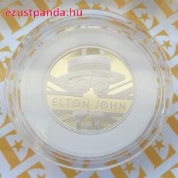Elton John 2020 1 font proof ezüst pénzérme
