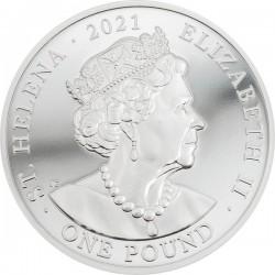 Napoleon Bonaparte 200. évforduló - St. Helena 2021 1 uncia ezüst pénzérme - CSAK 1821 PÉLDÁNY!