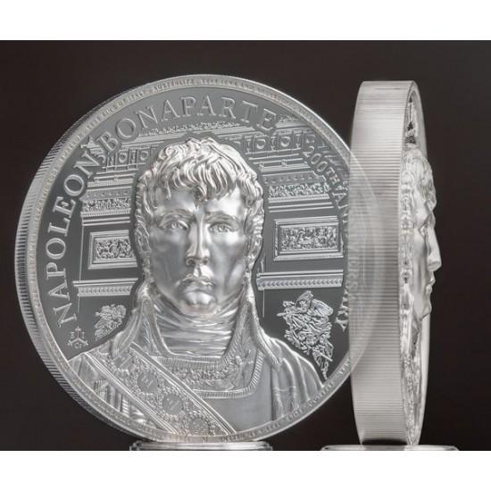 Napoleon Bonaparte 200. évforduló - St. Helena 2021 2 uncia piedfort ezüst pénzérme - CSAK 821 PÉLDÁNY!