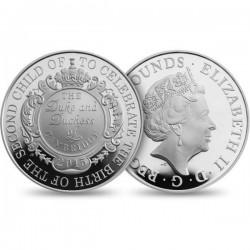 Újszülött a brit királyi családban 2015 5 GBP ezüst pénzérme