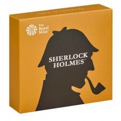 Sherlock Holmes 50p 2019 proof ezüst pénzérme